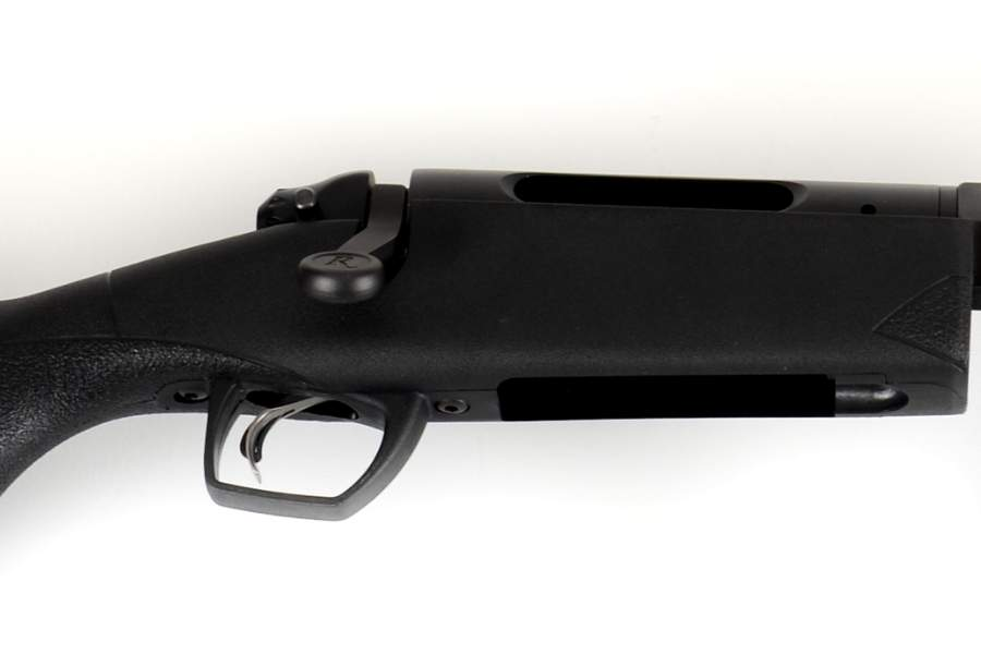 Handheld canister-switch net gun, showing action